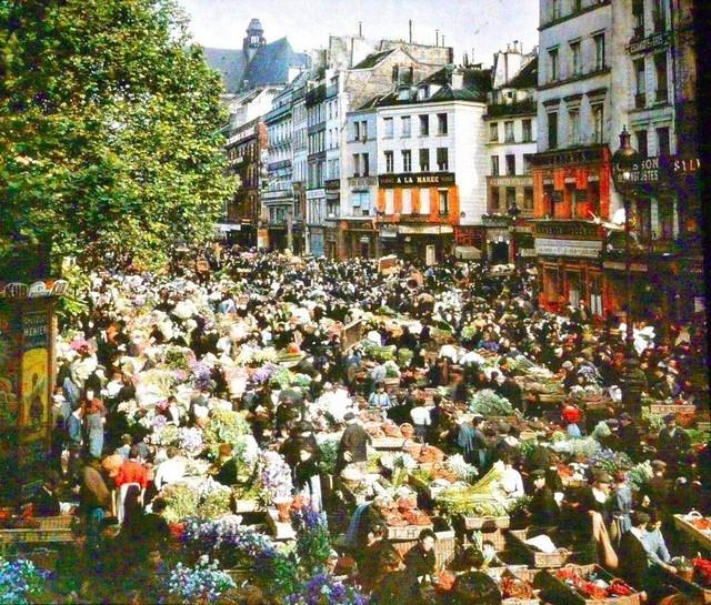 Mercado de rua, Paris, 1914