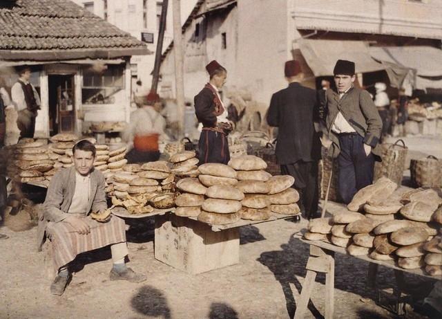 Comércio de rua em Sarajevo, 1912