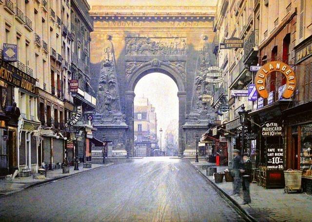 Porte Saint Denis, Paris, 1914