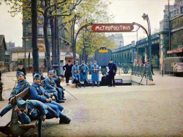 Metrô em Paris, 1914