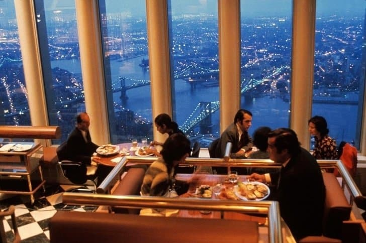 jantar no World Trade Center