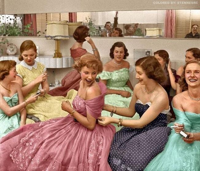 Curtindo uma festa em 1950