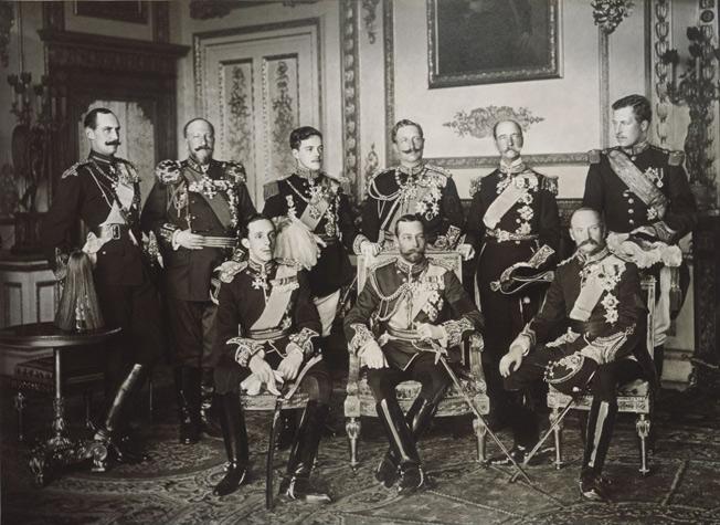 Reis lamentam a morte de Edward VII - 1910