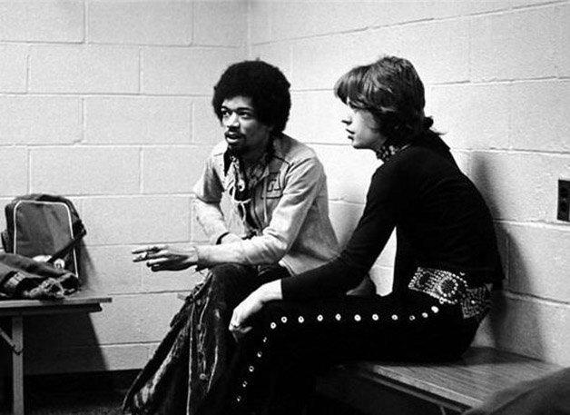 Jimi Hendrix e Mick Jagger ? 1969