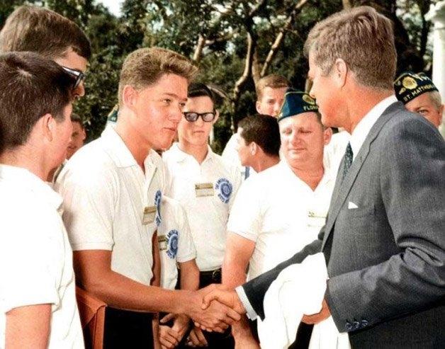 O Jovem Bill Clinton conhece John F. Kennedy