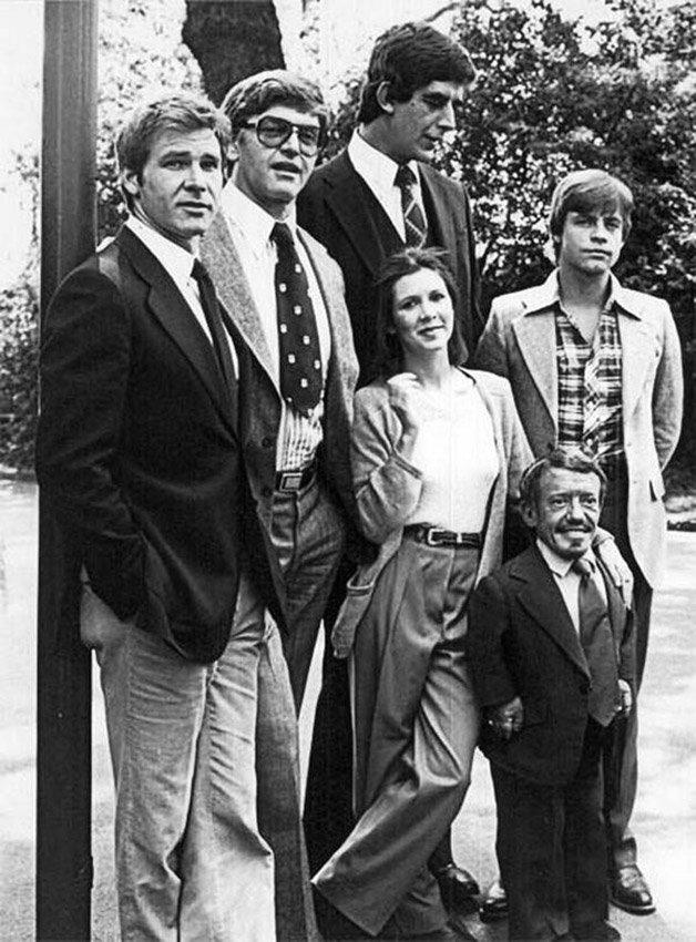 O primeiro encontro do elenco de Star Wars