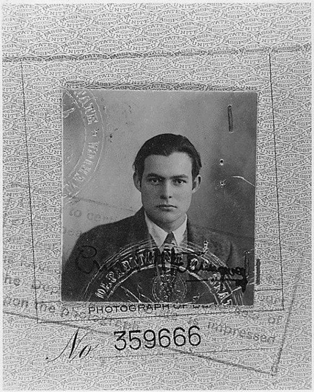 Foto do passaporte de Ernest Hemingway, 1923