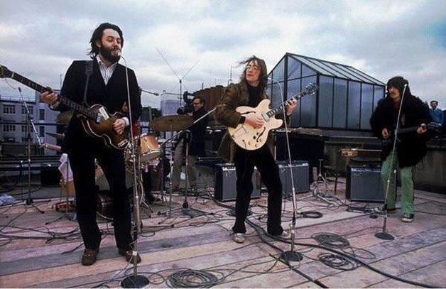 Último show dos Beatles em Rooftop, Londres ?