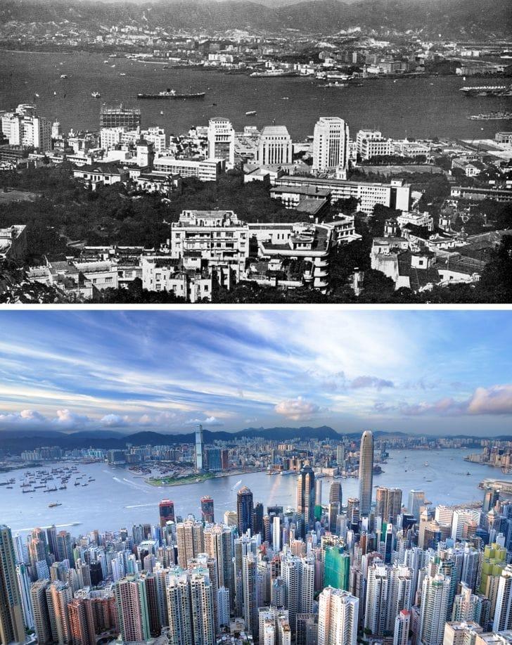 Hong Kong na década de 1960 e agora