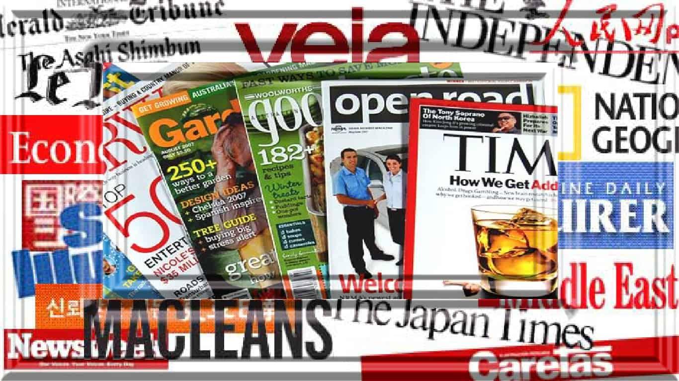 Revistas Internacionais - Guia de Mídia
