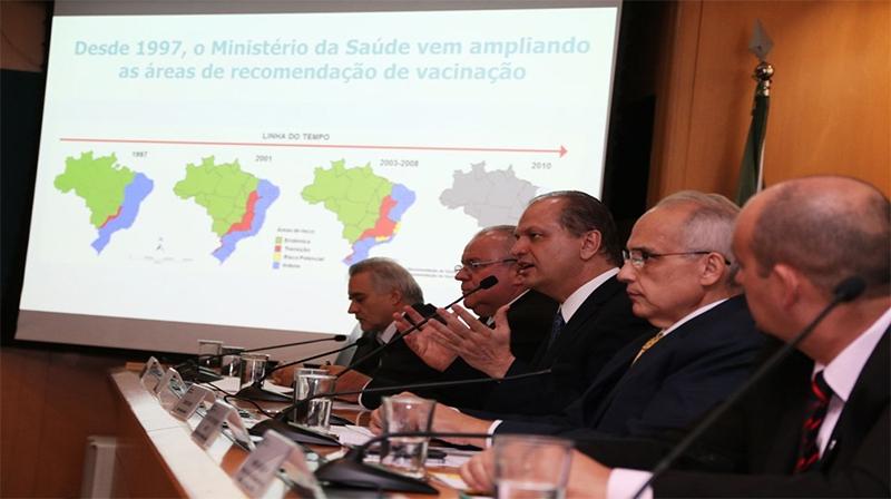 Vacina de febre amarela será ampliada para todo o Brasil