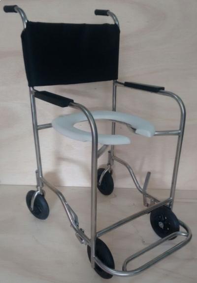 Cadeira p/ Banho Inox Assento Plastico - Foto 1