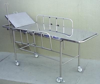Carro Maca Inox com suporte de soro e parachoque - Foto 1