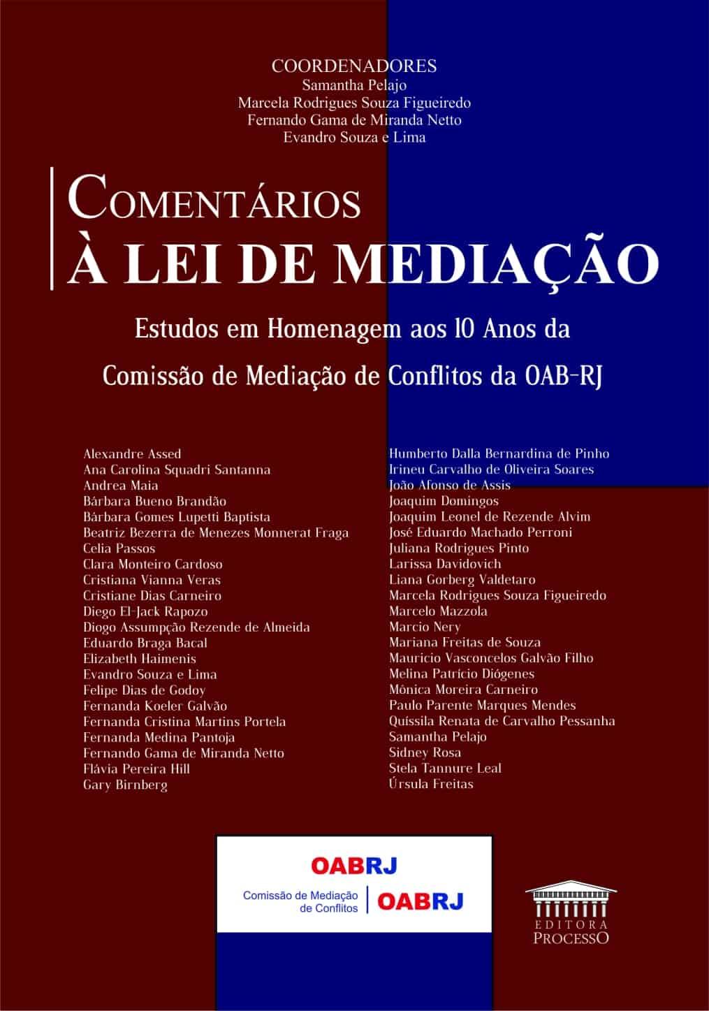 COMENTÁRIOS À LEI DE MEDIAÇÃO