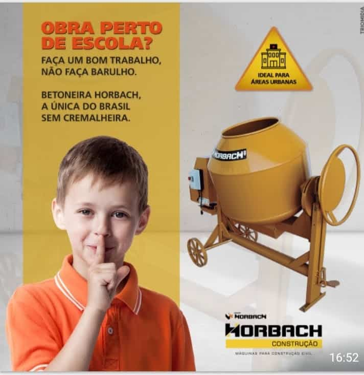 Betoneira Horbach 400L sem cremalheira - Silenciosa - Foto 2