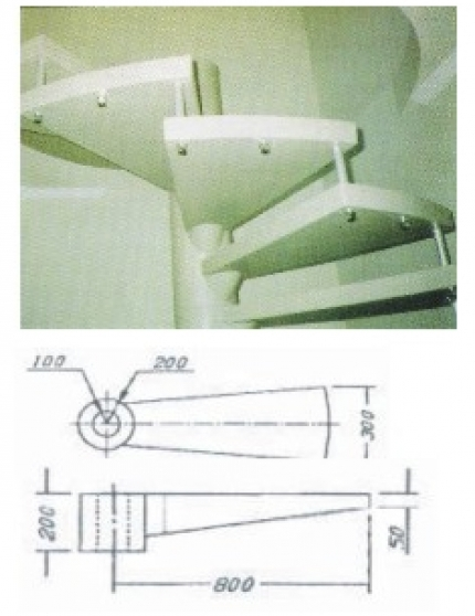 Degrau escada caracol - Foto 1