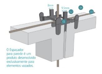 Espaçador para parede elemento vazado (inteira) - Foto 2