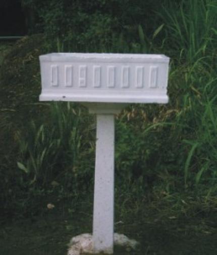 Lixeira barroca com pedestal - Foto 1