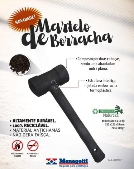 Martelo de borracha - Foto 1