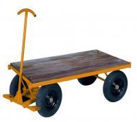 Carrinho Plataforma tampa de madeira - Foto 1