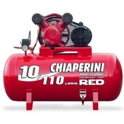 COMPRESSOR DE AR 10PCM BIVOLT 10-110L CHIAPERINI - Foto 1