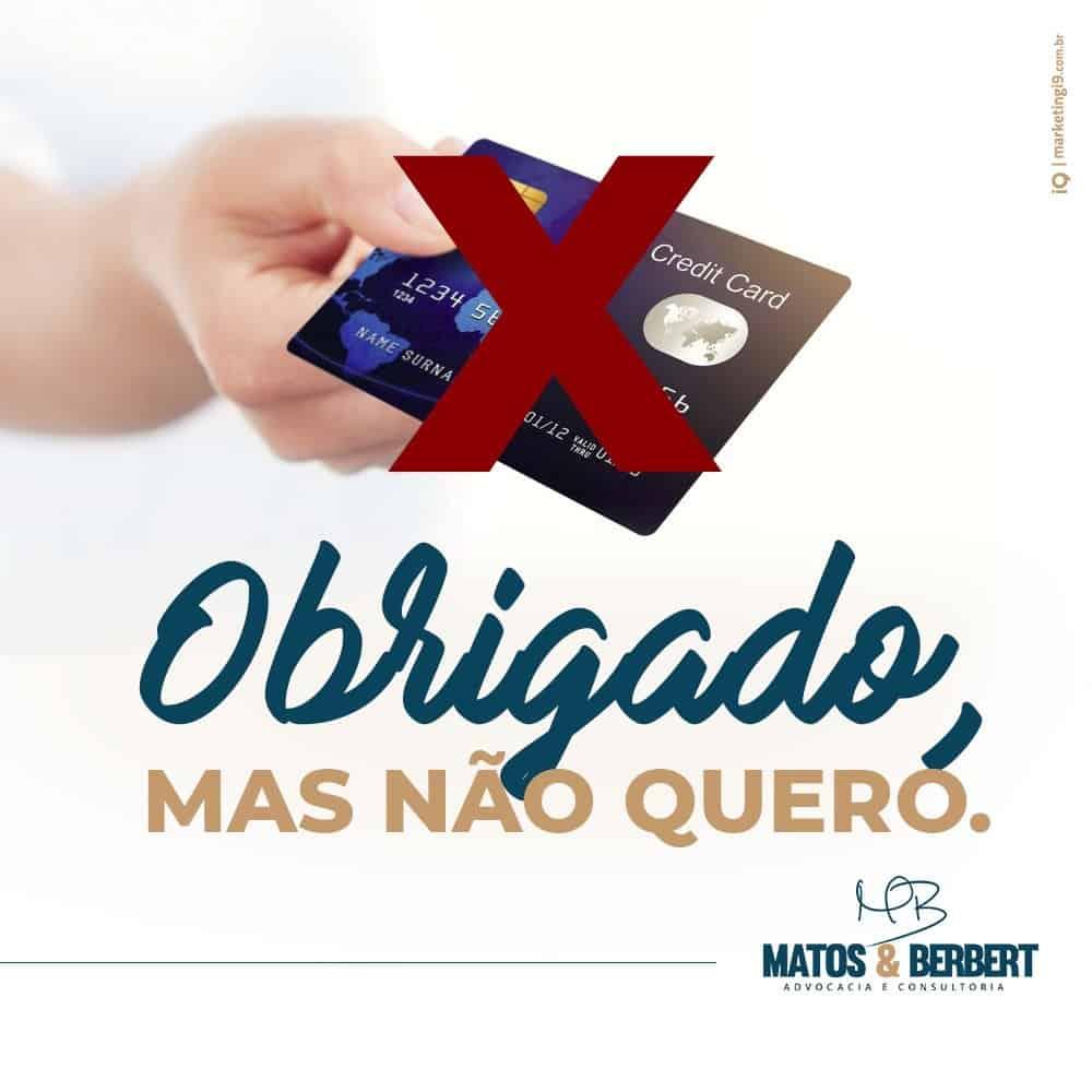 Envio de cartão de crédito sem solicitação