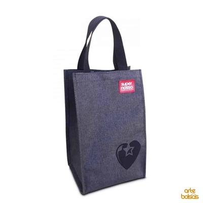 Sacola Porta Vinho Jeans - 6002 - Foto 1