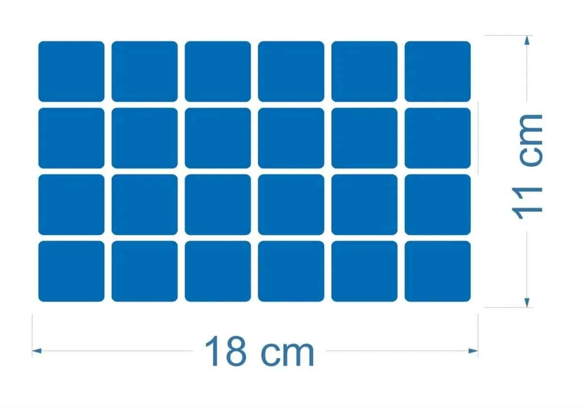 125 Pastilhas Adesivas | Azul R$ 130,00