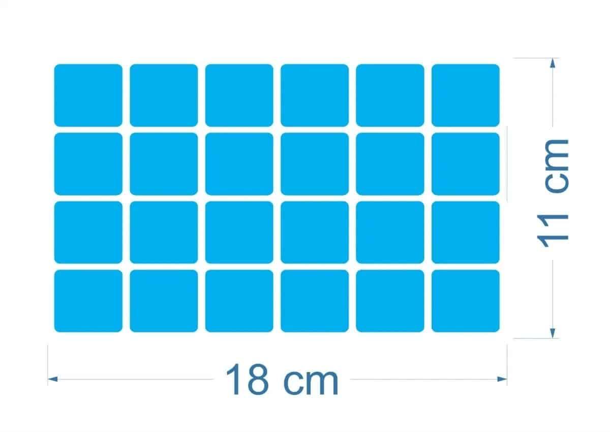 125 Pastilhas Adesivas | Azul Claro R$ 130,00