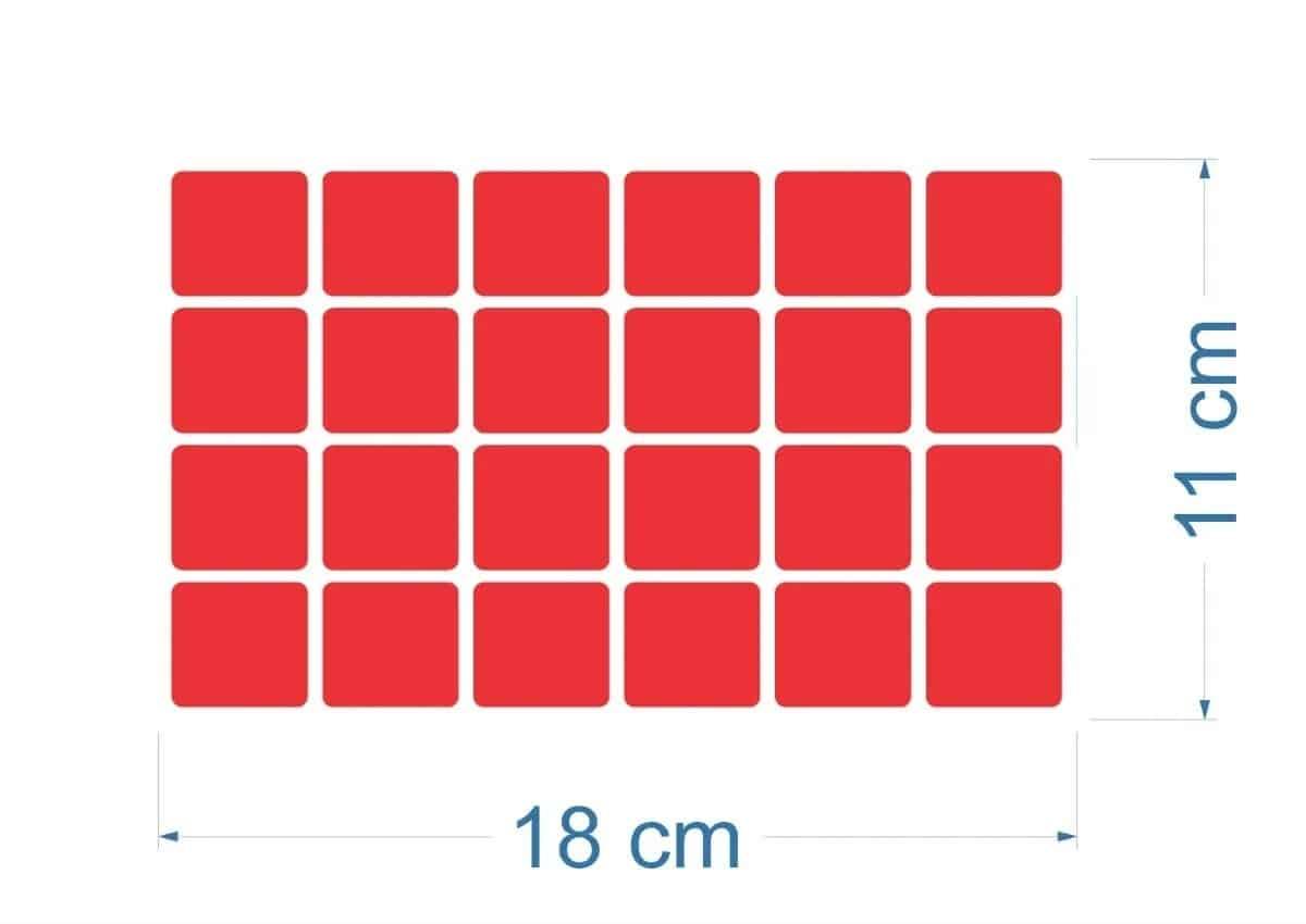 125 Pastilhas Adesivas | Vermelho R$ 130,00