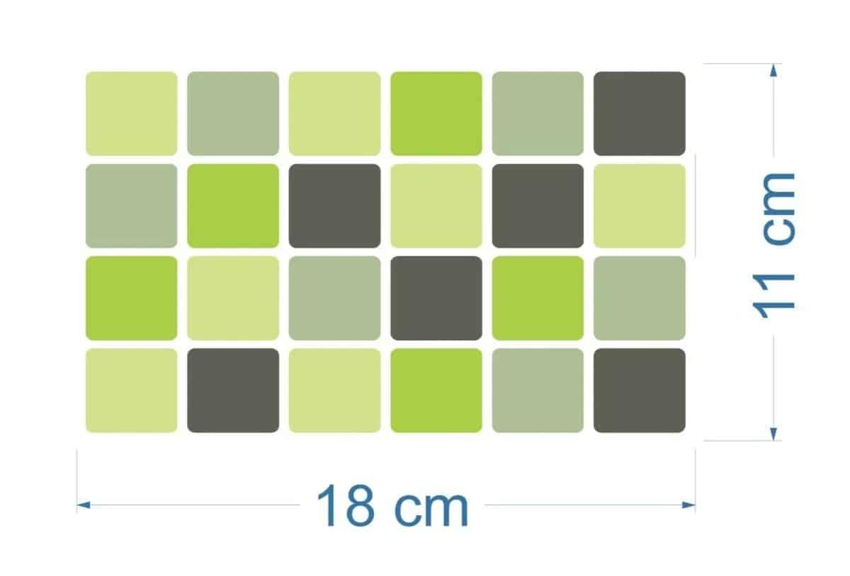 125 Pastilhas Adesivas | Tons de Verde R$ 130,00