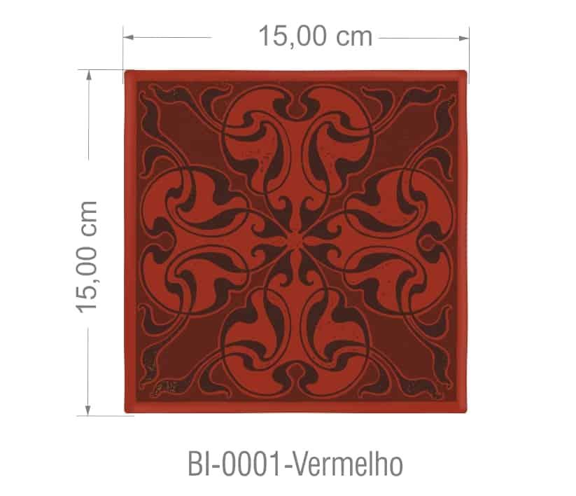 Azulejo PT kit com 90 uni - 0001 Vermelho R$182,00