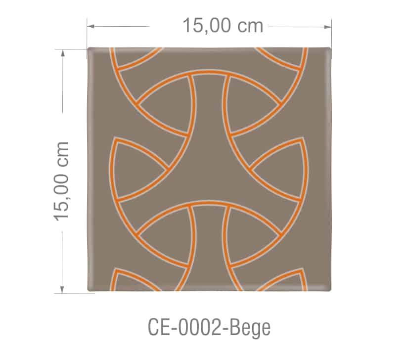 Azulejo PT kit com 90 uni - 0002 Bege R$182,00