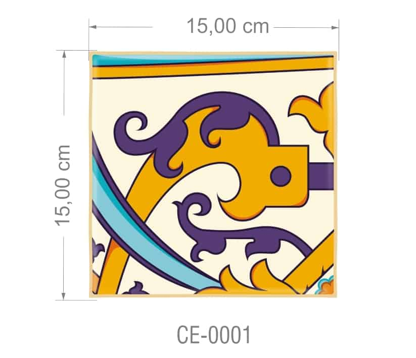 Azulejo PT kit com 90 uni - CE 0001 R$182,00