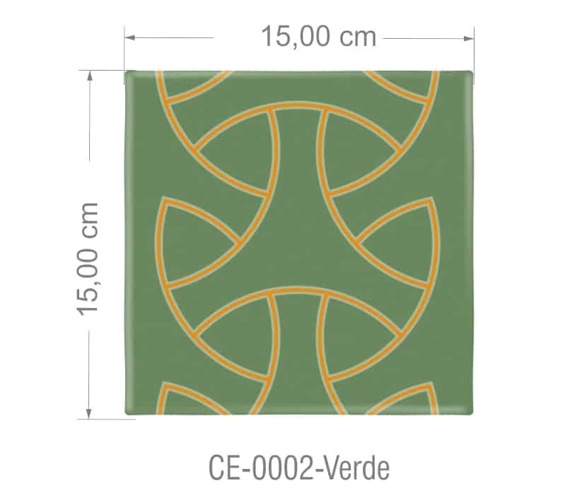 Azulejo PT kit com 90 uni - CE 0002 Verde R$182,00