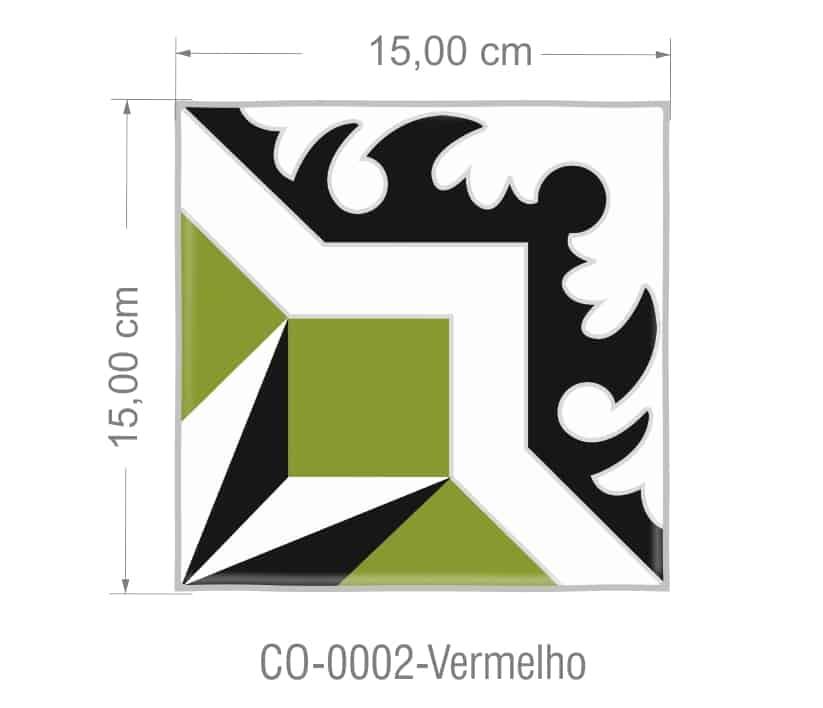 Azulejo PT kit com 90 uni - CO 0002 Verde R$182,00