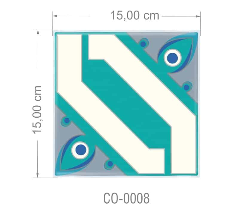 Azulejo PT kit com 90 uni - CO 0008 R$182,00