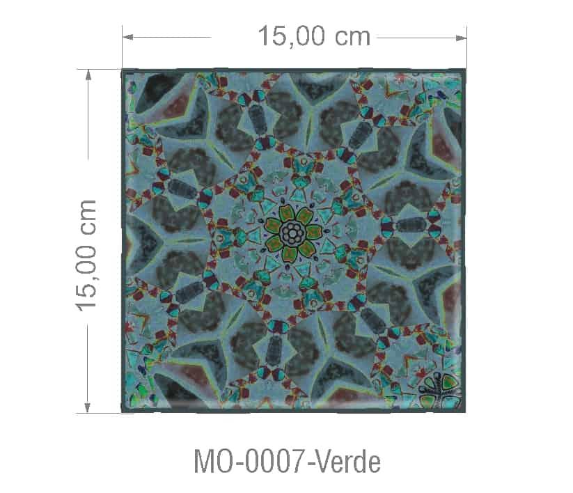 Azulejo PT kit com 90 uni - MO 0007 Verde R$182,00