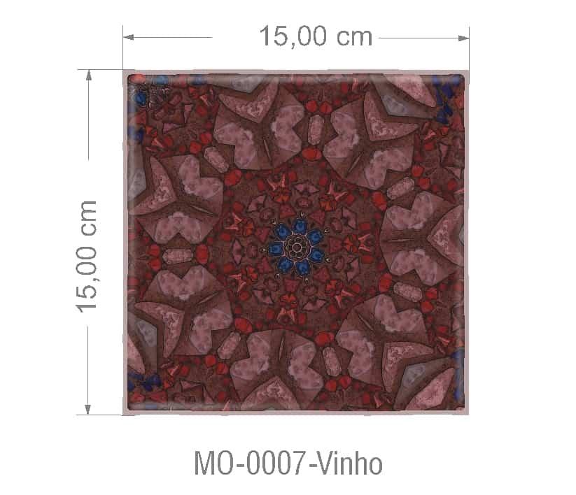 Azulejo PT kit com 90 uni - MO 0007 Vinho R$182,00