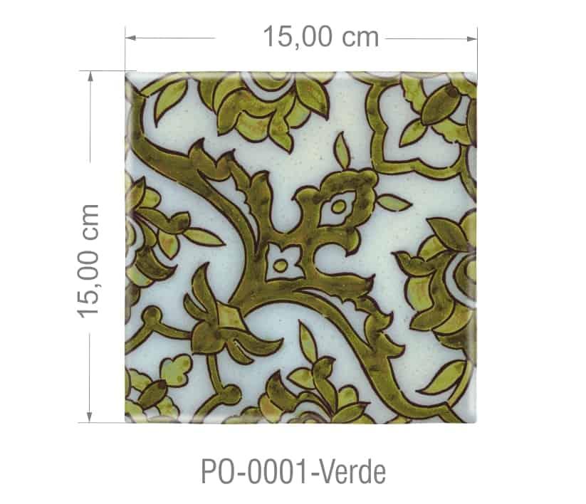 Azulejo PT kit com 90 uni - P0 0001 Verde R$182,00