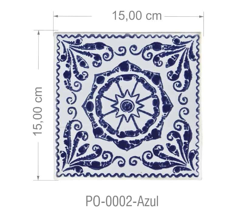 Azulejo PT kit com 90 uni - P0 0002 Azul R$182,00