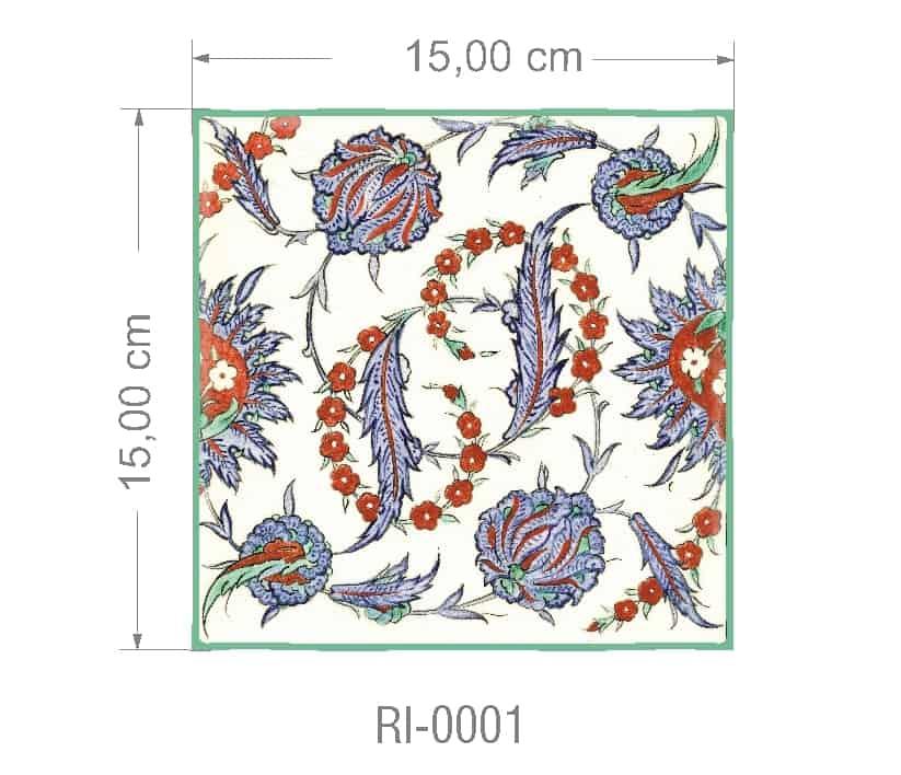 Azulejo PT kit com 90 uni - RI 0001 R$182,00