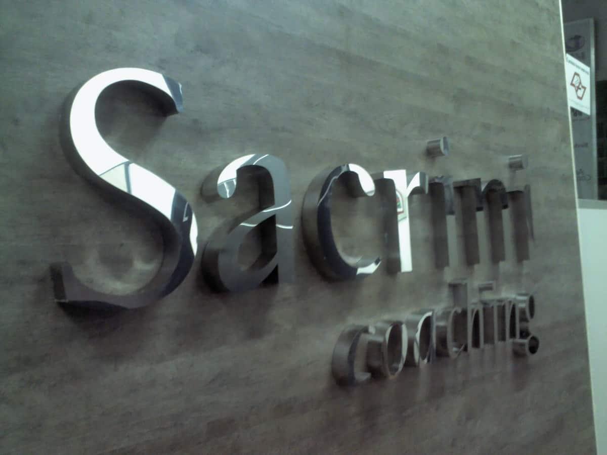Letra Caixa | Sacrini