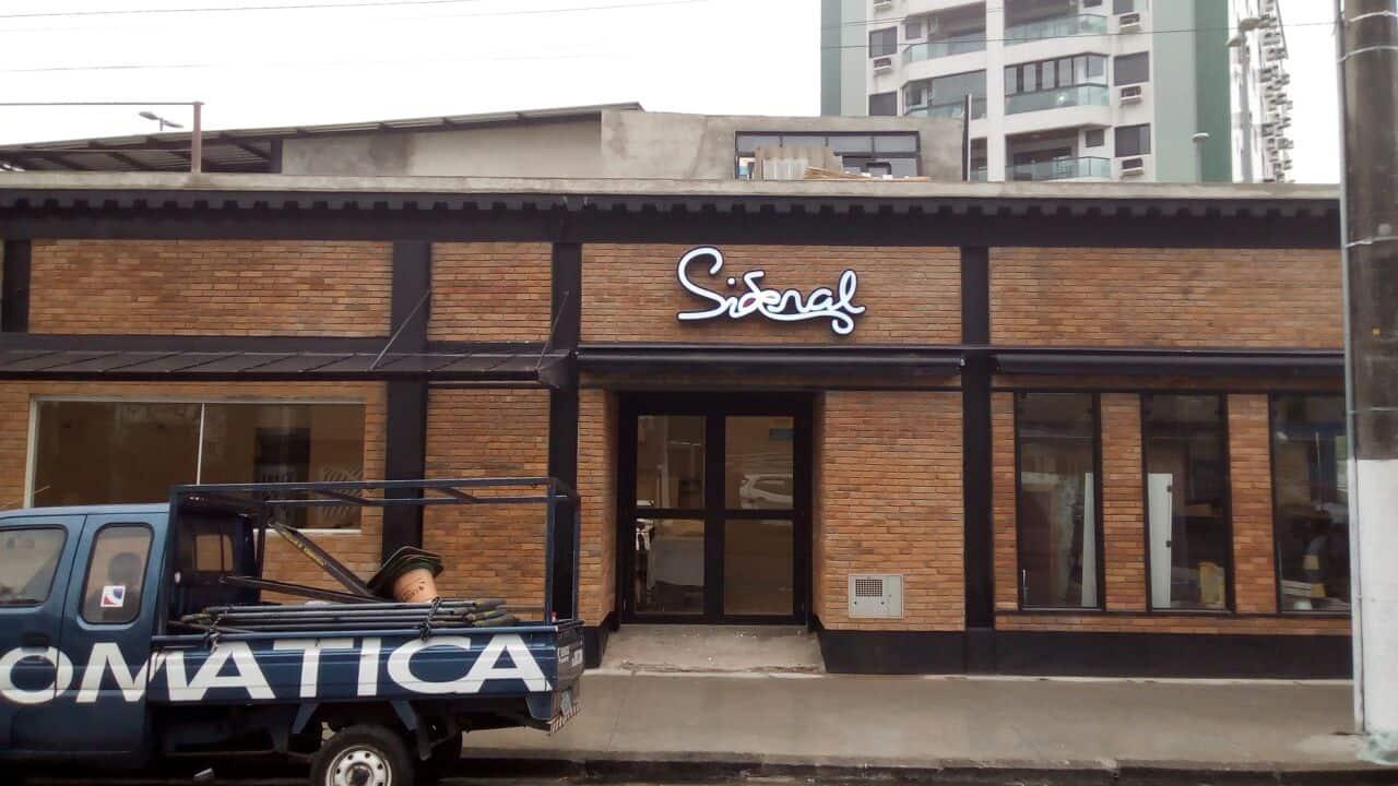 Letra Caixa | Restaurante Sideral
