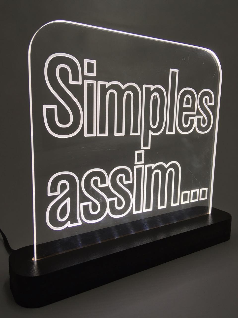 """Luminária """"Simples Assim..."""""""
