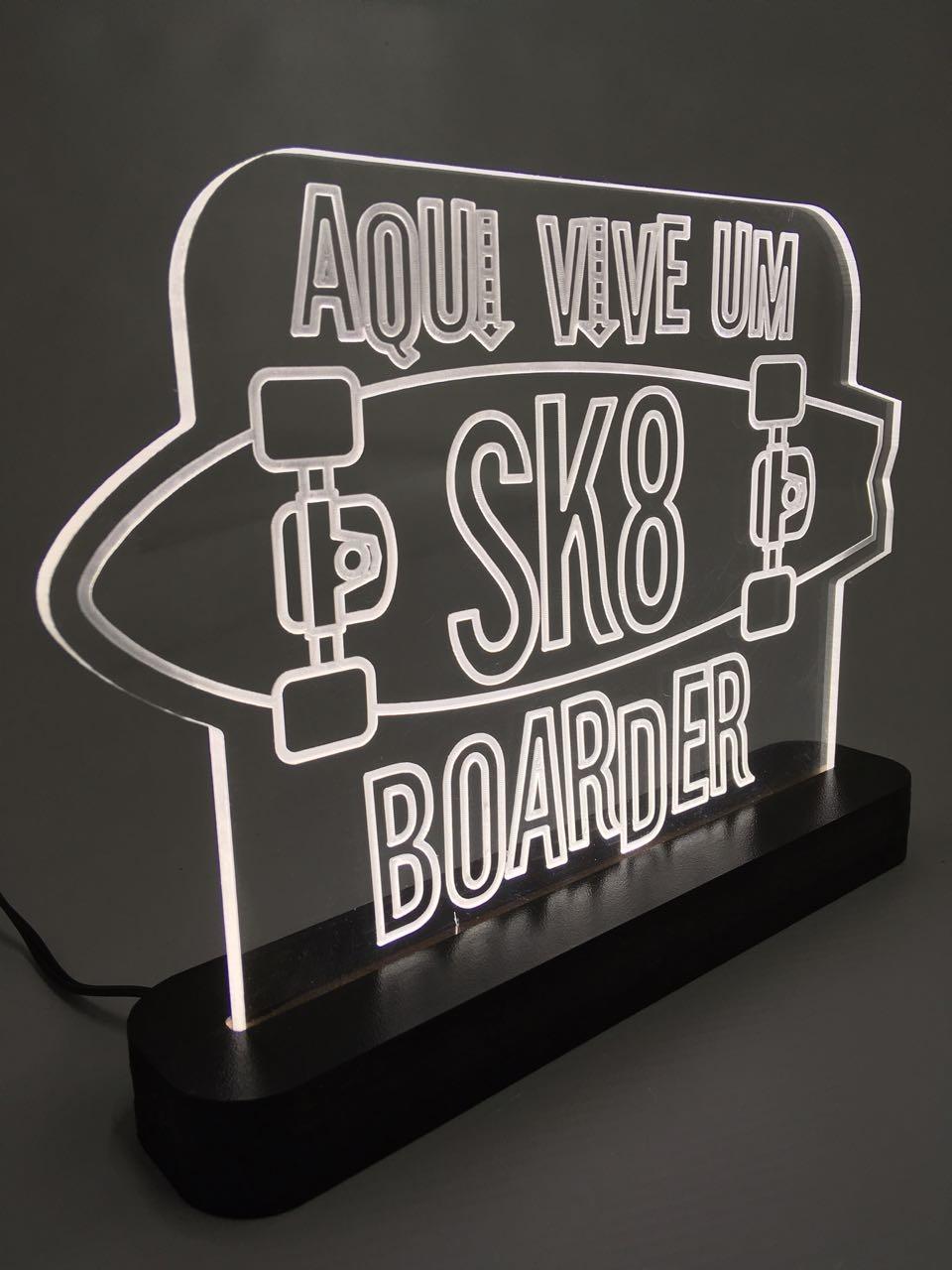"""Luminária """"Skate 1"""""""