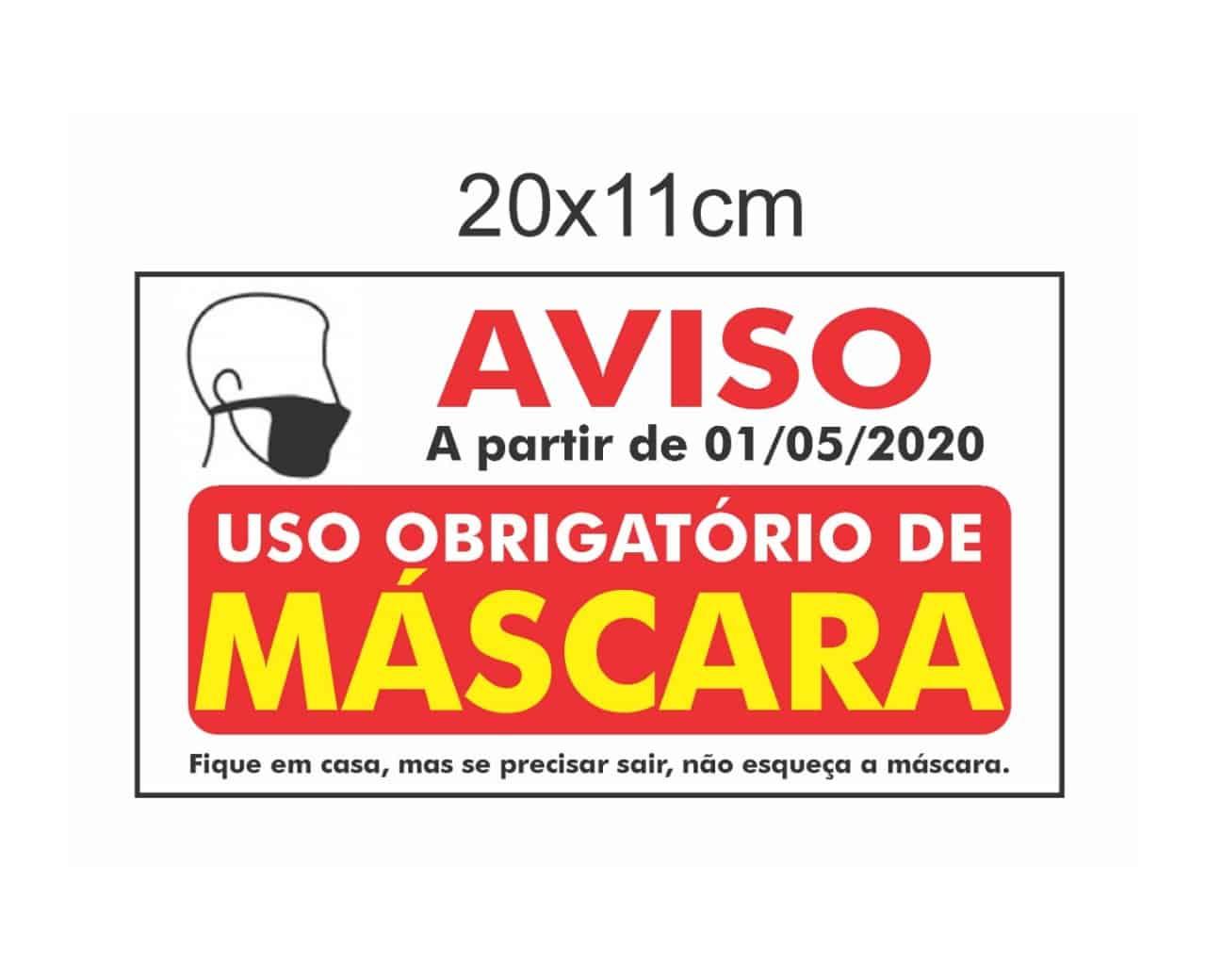 Placas Informativas 20x11 - R$ 15,00