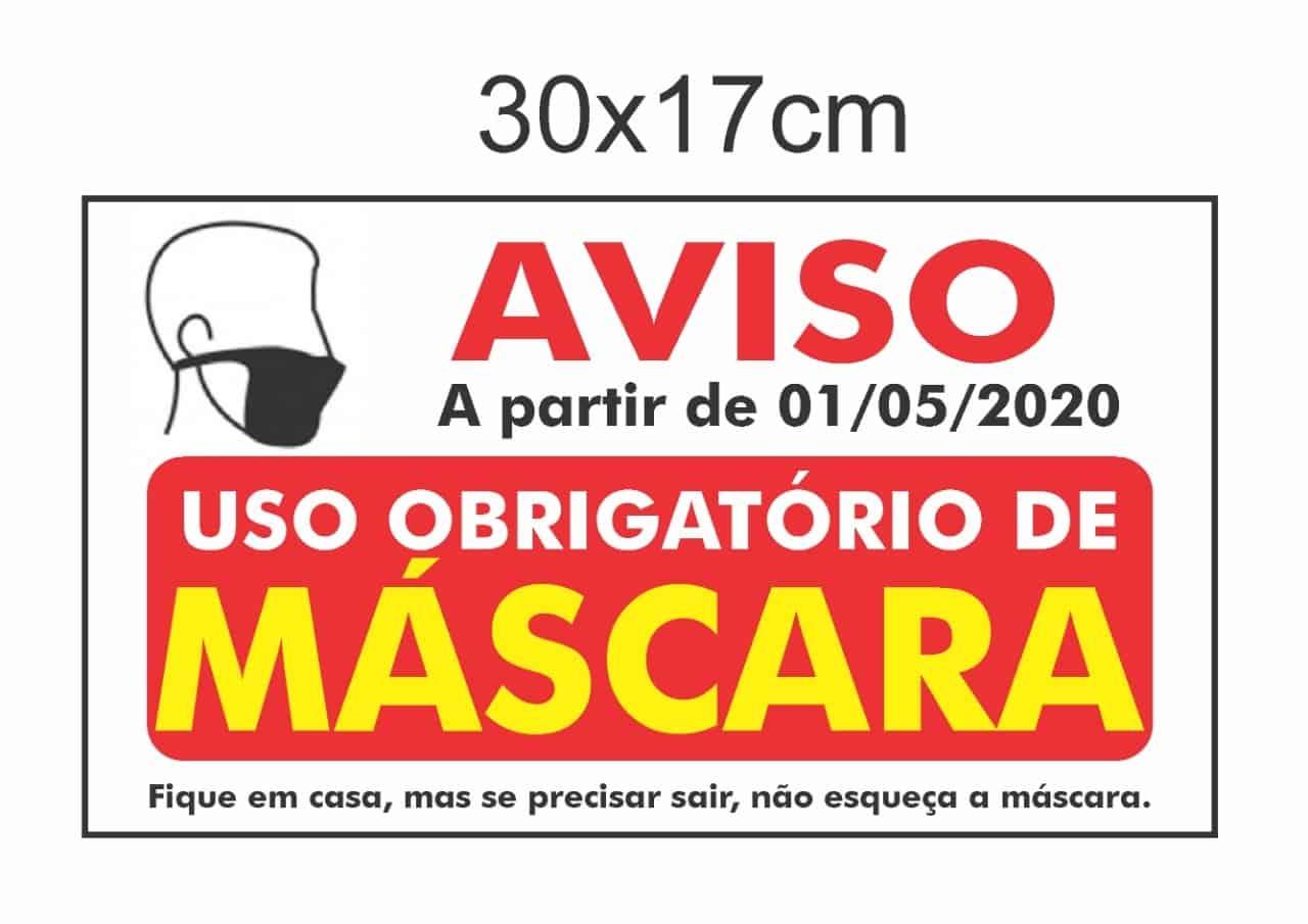 Placas Informativas 30x17 - R$ 20,00