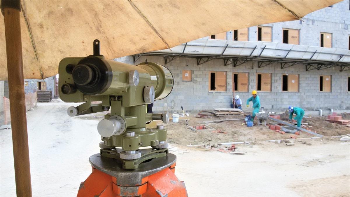 Detalhe do equipamento de medição.