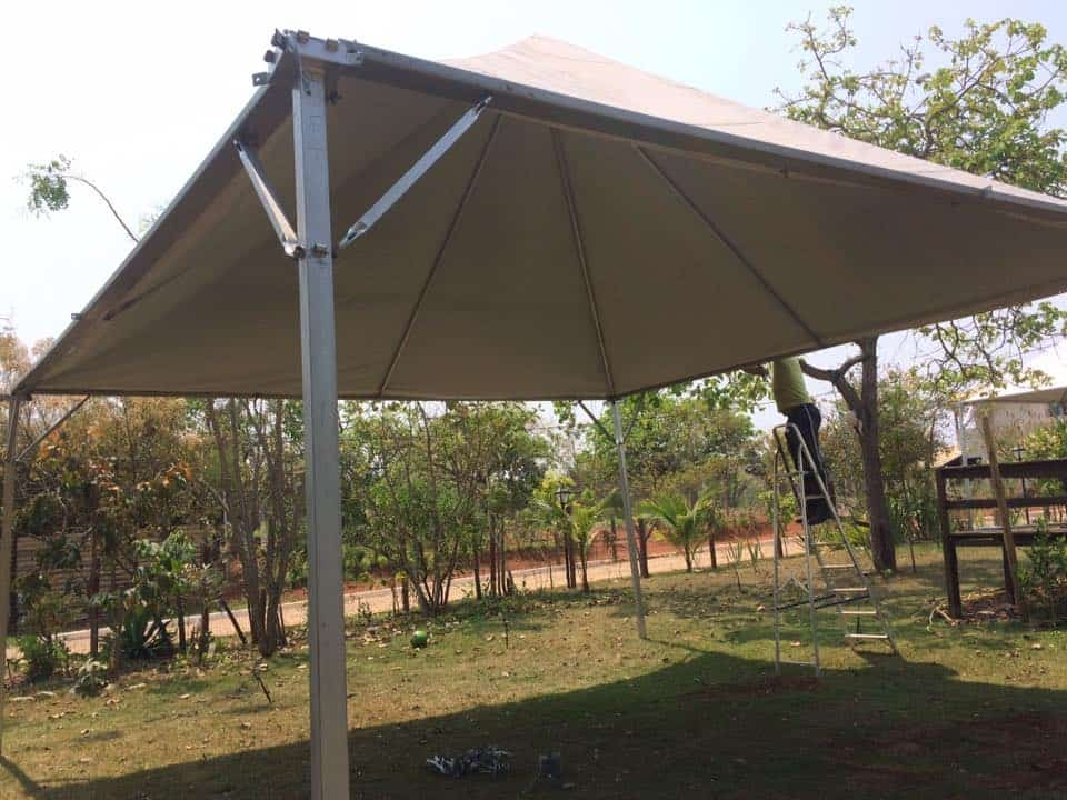 Tenda 5x5 com calhas laterais - Foto 13